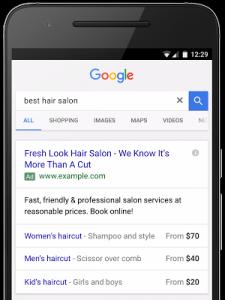 Rozšíření o ceny - Google AdWords